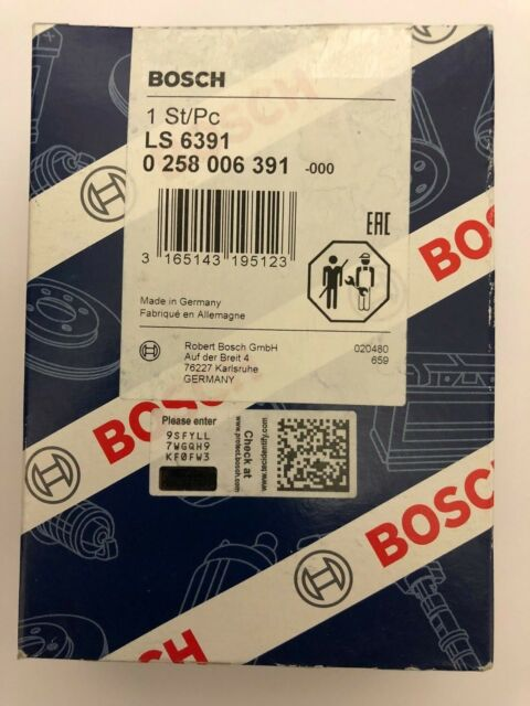 Bosch O2 Fit with ALFA ROMEO 166 Bosch Lambda Sensor 0258006391 UK Seller