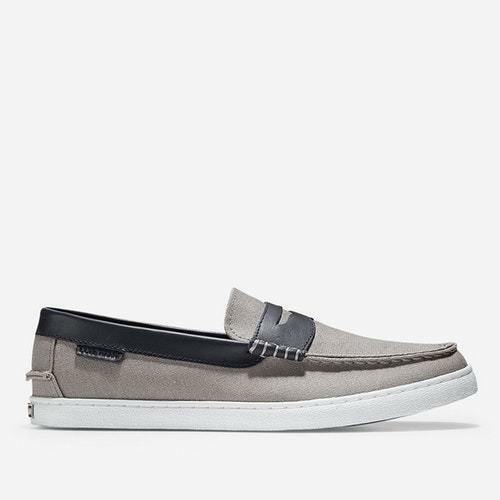 COLE HAAN  Herren MEN'S CANVAS-Blau NANTUCKET LOAFER - GRAY CANVAS-Blau MEN'S LEATHER Größe: 10.5 9ecd1c