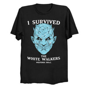 I-Survived-The-White-Walker-Night-King-Game-Of-Thrones-Black-T-Shirt-Jon-Snow