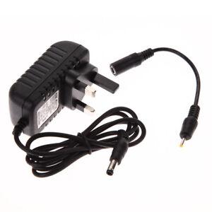 AC 100-240V Converter Adapter DC 5.5x2.5MM+2.5X0.7MM 6V 1A Charger UK Plug