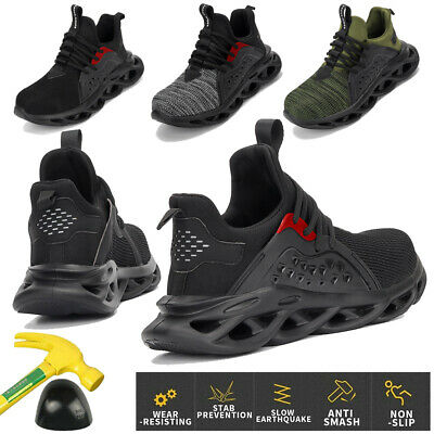 Safety Shoes Steel Toe Trainers Lightweight Work Shoes Non Slip Work Sneakers 44
