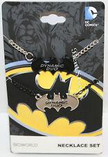 NEW DC Comics Batman & Robin dynamic duo Best Friends BFF Cosplay Necklace Set