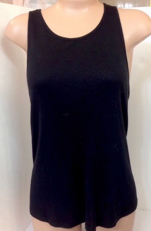 The Row Tank Top schwarz Stretch Cotton Sleeveless Knit Small To Med