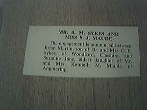 ephemera-1966-sussex-engagement-b-m-sykes-miss-s-j-maude-angmering