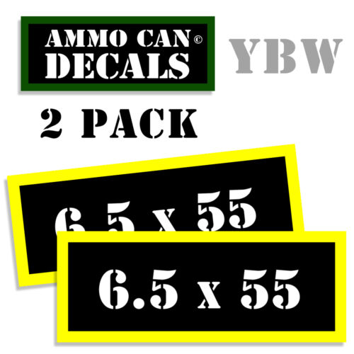 Ammo Can Labels 6.5x55 SWEDISH Ammo Can Decals Ammunition Vinyl Stickers 5-pack