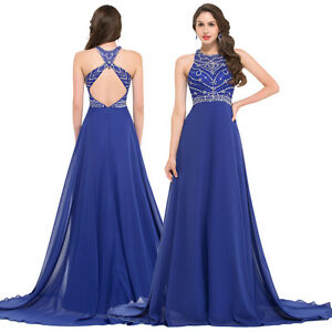 Womans Formal Party Evening Gowns Prom Cocktail Bridesmaid Wedding Long Dresses
