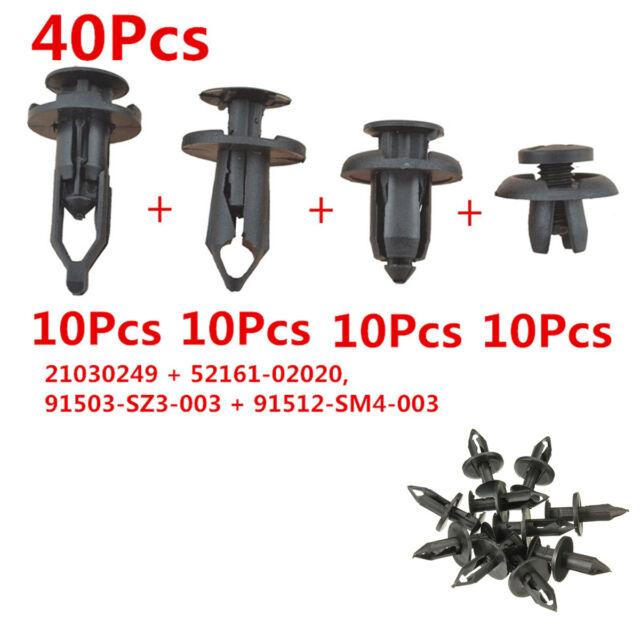 Durable Nylon Plastic Push Pin Rivet Fastener Car Body Bumper Retainer Clip Trim