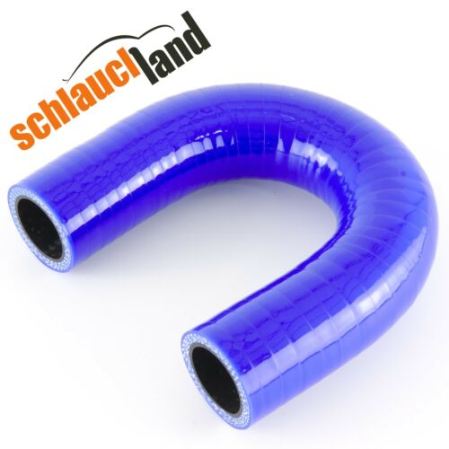 Silikonbogen 180° ID 34mm blau***Turboschlauch Silikonschlauch Schlauchbogen LLK