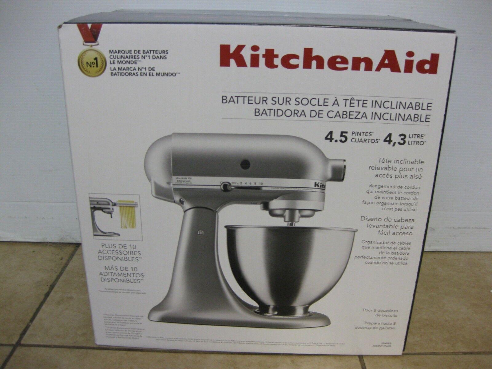 KitchenAid 4.5 QT Tilt-Head robot mélangeur, argent KSM88SL
