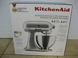 Details about KitchenAid 4.5 Quart Tilt-Head Stand Mixer, Silver KSM88SL