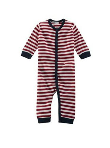 Gr Living Crafts Schlafanzug rot//weiss 1tlg 62//68 Baumwolle kbA.