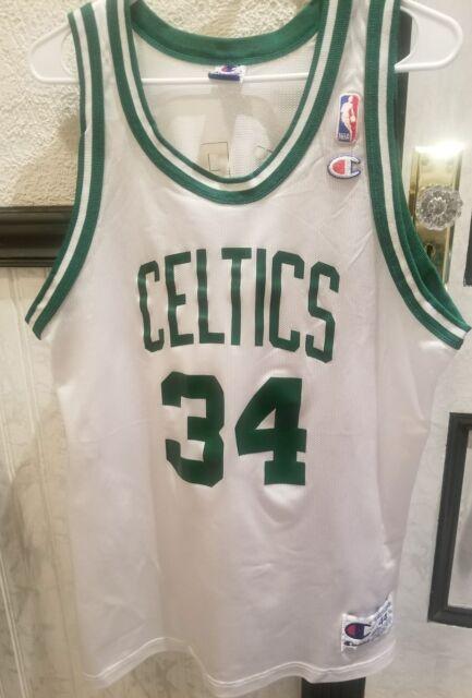 58c8183ca RARE VTG 90s NBA Champion Boston Celtics Paul Pierce Jersey 44 White 34  ROOKIE