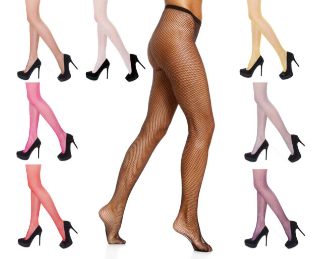 "HUE Hot pink /""Large FISHNET/"" stockings tights M//L pantyhose 165-200 lbs"