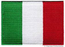 ITALY FLAG embroidered iron-on PATCH ITALIAN EMBLEM new ITALIA TOPPA SOUVENIR