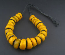 African Moroccan Amber Resin Beads - Graduated (Bumble Bee) Morocco