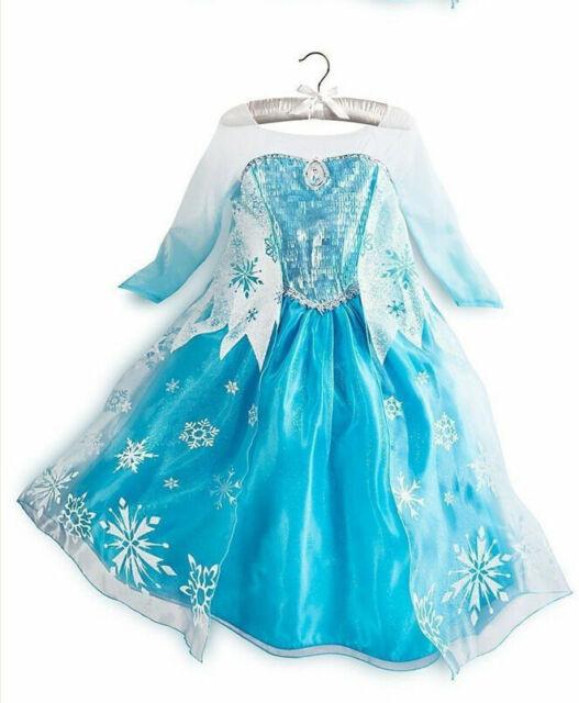 Frozen Party Dress Lace Dress Elsa Birthday Dress Blue Maxi Dress Toddler Costumer Frozen Costume Toddler Elsa Dress Disney Clothes