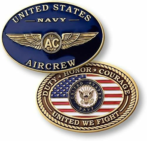 U.S. Navy ~ Naval Aircrew ~ Challenge Coin