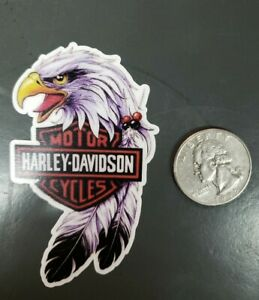 Harley Davidson Vintage Style Motorcycle Decals Sticker Eagle With Logo Ebay