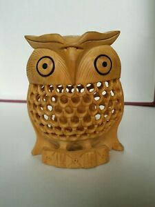 Artisan-Crafted-Wood-Bird-Sculpture-034-Night-Owl-034