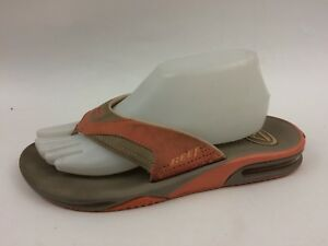 fb9c0e68186 Reef Womens 9 M Bottle Opener Flip Flop Thong Sandals Shoes Orange ...