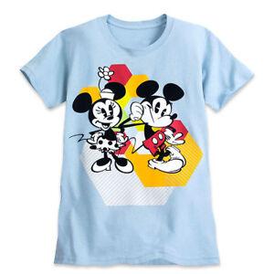 532b7a44 Disney Store Minnie & Mickey Mouse Summer Fun Womens T Shirt Tee ...