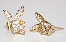 Playboy Ohrstecker Bunnys Strass gold NEU