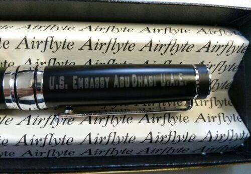US Embassy Abu Dhabi UAE Executive Pen Black Ink Medium Point Chrome Accent