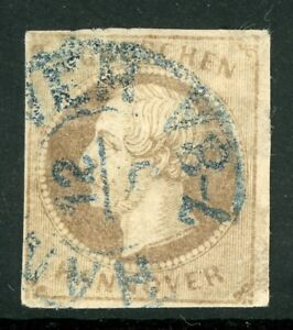 Germany-1861-Hannover-3gr-Brown-SG-29-VFU-F893