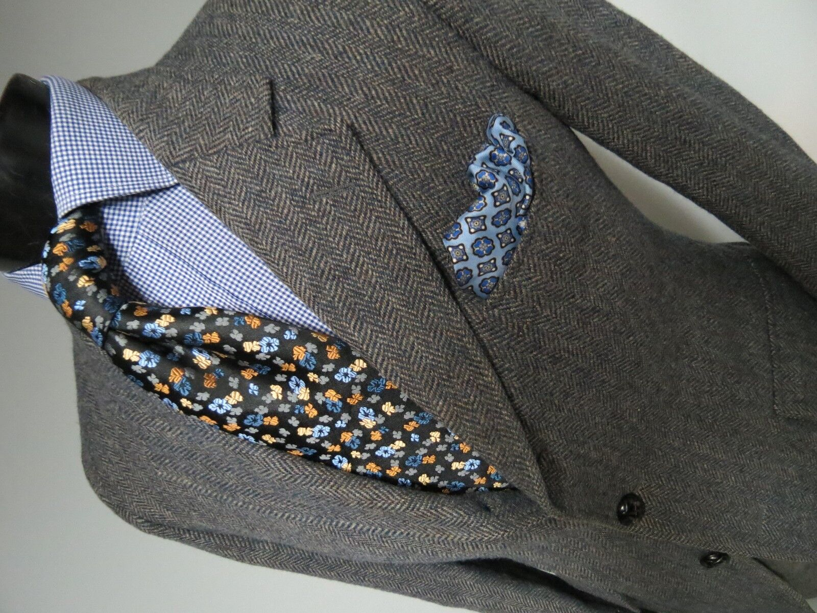 Gorgeous Vintage Arthur M Rosenberg Model= Bryan English tweed sport coat 40 R