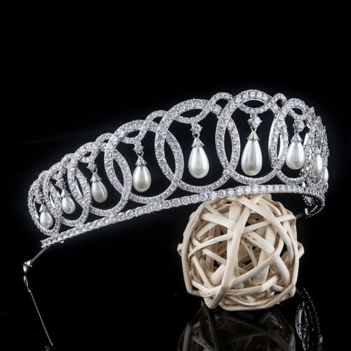 Luxury All CZ Cubic Zirconia Classical Wedding Party Pageant Prom Tiara Crown