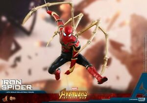 Marvel Avengers Infinite War Iron Spider With Led Light Pvc Action Figure Collectible Model Toy Modern Techniques Toys & Hobbies