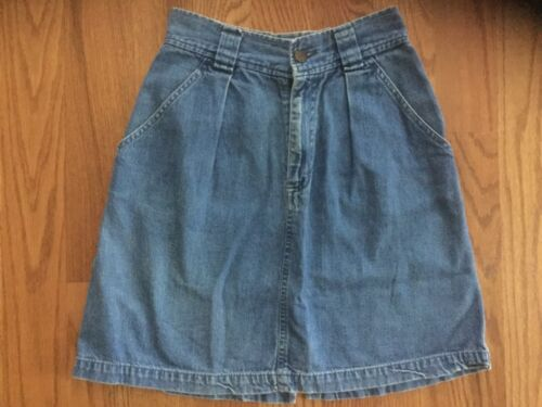 Ladies Calvin Klein Jeans Skirt Denim Sz 4 High Wa