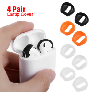 2 Pairs Ultrathin Silicone Eartips Earbuds Cover Upgraded For Apple Airpods New
