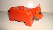 FIGURINE LEGO DUPLO ANIMAL FERME CAMPAGNE - LA VACHE THE COW  (5x9cm)