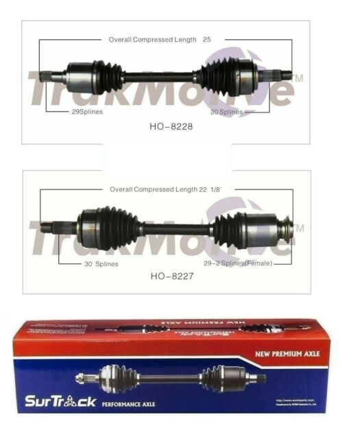 Pair Of Front CV Joint Axle Shaft SurTrack Set For Acura