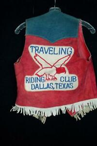 RARE-VINTAGE-1970-039-S-CUSTOM-EMBROIDERED-SUEDE-RIDING-CLUB-VEST-SIZE-SMALL