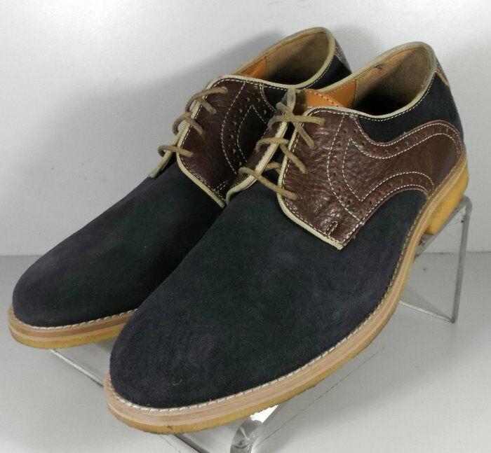 271169 WT50 Men's Shoes Size 9.5 M Navy Suede Lace Up Johnston Murphy Walk Test