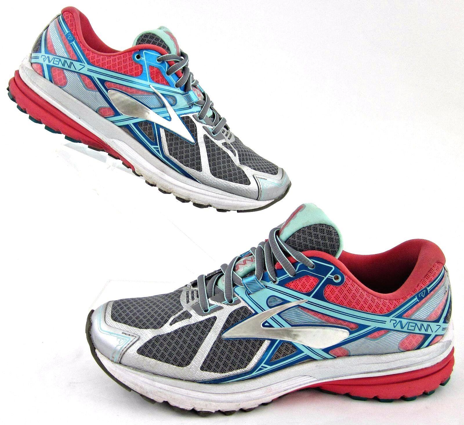 Brooks Ravenna 7 Running shoes Pearl Pink Capri Breeze 8D Wide NO INSOLES