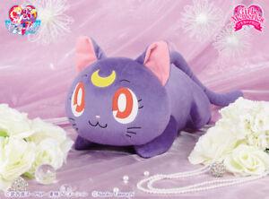 NEW-Sailor-Moon-Big-Nesoberi-Plush-Doll-Luna-Lying-down-ver-Rare-from-Japan-F-S