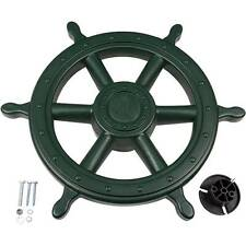 SWING SET STUFF SHIPS WHEEL GREEN wooden pirate steering accessories fort 0230
