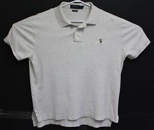 Polo-Ralph-Lauren-Mens-Grey-Pima-Soft-Touch-Short-Sleeve-Shirt-Size-Large-EUC