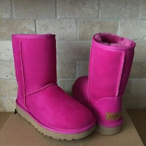 UGG Classic Short II Fuschia Pink Water
