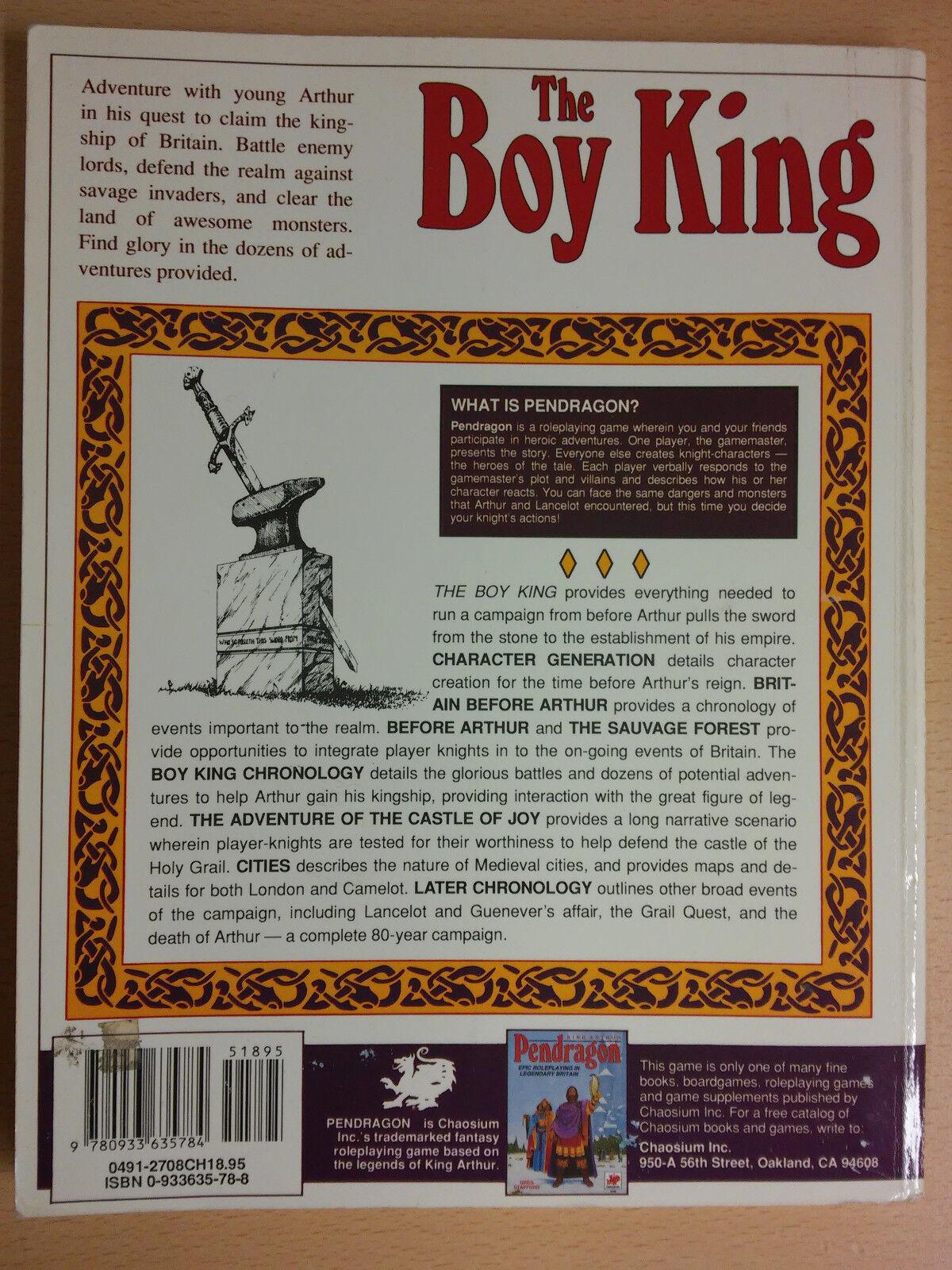 The Boy King, Pendragon, 1991; Chaosium Chaosium Chaosium 55d757