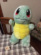"""1998 Squirtle 16"""" Play By Play Plush Doll Nintendo Pokemon GUC"""