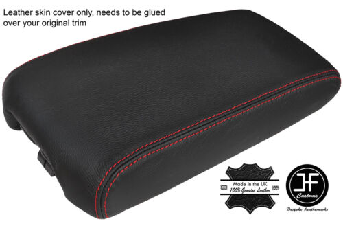 RED STITCHING REAL GENUINE LEATHER ARMREST LID COVER FITS MAXIMA 2009-2014