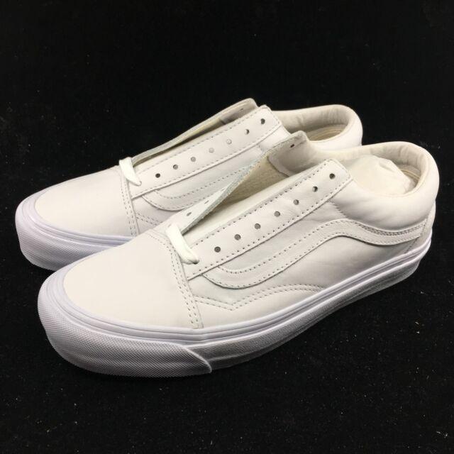 18e4009b78 Vans Vault OG Old Skool White Leather Men Women Skate Boarding VN000VOJ1NT