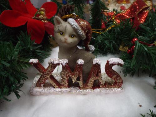 Christmas Cat Santa A beau Tree Hanging DECORATION xm3433