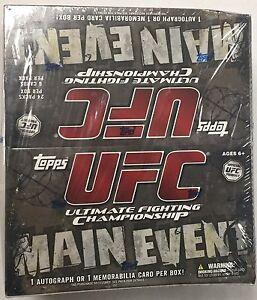2010-Topps-UFC-MAIN-EVENT-Factory-Sealed-Retail-Box-1-Auto-Memorabilia-Per-Box
