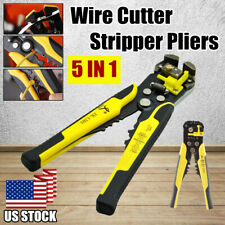 Electrical Automatic Cable Wire Cutter Stripper Crimper Plier Terminal Tool Us