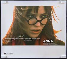 """ANNA 1967 Rare 25""""x29"""" RI L/B poster Anna Karina Serge Gainsbourg Filmartgallery"""